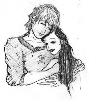 Finnick and Annie THG first sketch by chiblocker