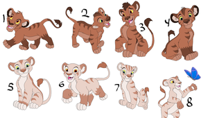 Lion Breedables Cubs by sam-speed