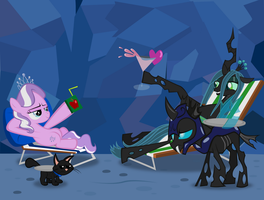 Diamond and Dazzle: Chrysalis by MagerBlutooth