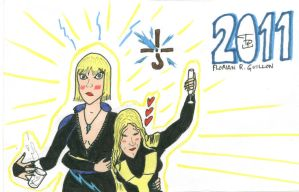 2011 Card - Superheroines clrd by FG-Arcadia