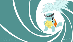 Agent Squirtle 007 by PenguinAttackStudios