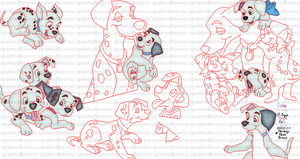 101 Dalmations Pixel Layout Progress by xpaintedhooves