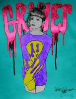 GRIMES no. 4 (digitally colored) by brettrounds