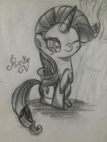 Doodle: Rarity... ~ by chichicherry123