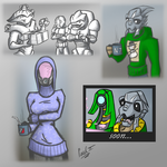 Mass Effect winter sketches by fakefrogs