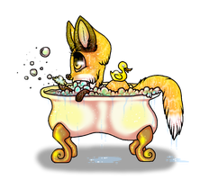 Bath time! by GGFOX22
