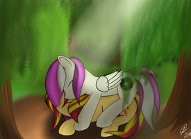 In the Forest by RainDashDragon