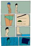 Swimming Page 1 colour by Stef192k