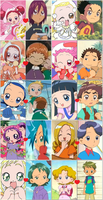 Ojamajo Doremi Couples by 3D4D
