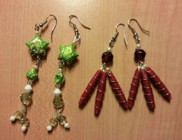 paper bead earrings by syn-O-nyms