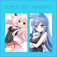 Render Pack: Kurousagi by HappyFaceStar