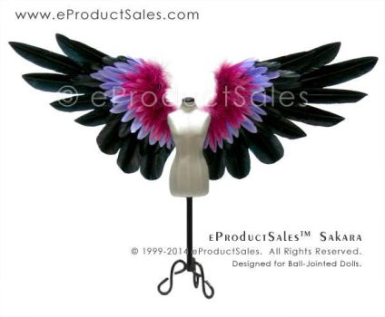 Sakara Feather Angel Wings for Dolls and Miniature by eProductSales