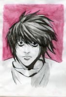 L from Death Note by marina-the-hedgehog