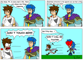 Marth loves Pit by Kurvos