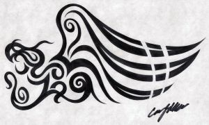 Good Tribal Wing by NarcissusTattoos