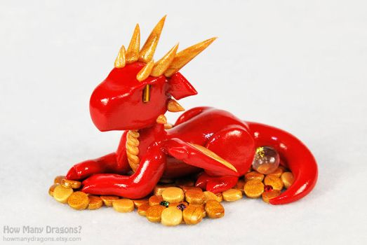 Chibi Smaug by HowManyDragons
