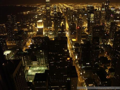 Chicago at Night by iPanic