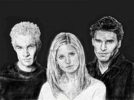 Buffy 'the vampire slayer' by saintaker