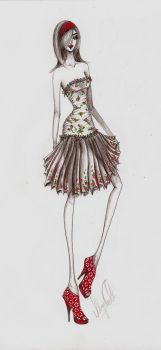 Fashion Sketch 05 - coloured by my-beret-is-red