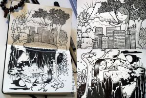 Doodle: Two Worlds by vicenteteng