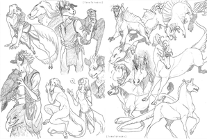Sketch page - Hanmonster by TornTethers