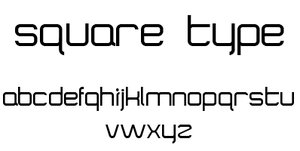 SQUARE font by dree23km