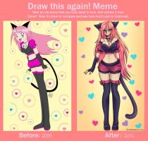 Draw this again Meme: Neko by xDarkreepx