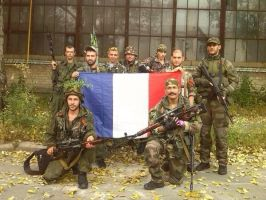 French volunteers in Donbass by nikitakartinginboxru