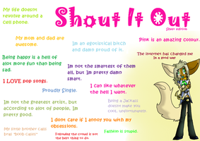 Shout it out by peckonthecheek