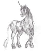 unicorn sketch by all-the-lovely-death
