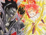 Commission - Fairy Tail: Shadow vs Light by Orcagirl2001