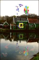 Green and other colours house by Tijgerkat