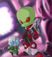 Zim and Gir by DM by dyemooch