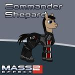 Pony Commander Shepard by bydy
