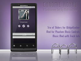 Chrome Royal Lockscreen Set by melissapugs