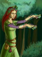 Forest witch by tin-sulwen