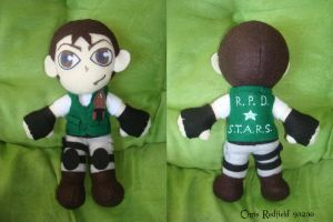 Chris Redfield Plush by NiGHTSfanKevin