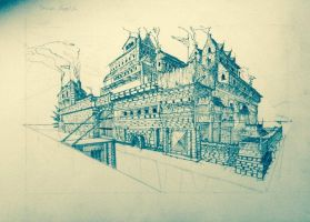 India Ink Castle by hipple25