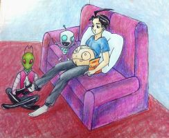 $ Invader Zim and Dib Mpreg by Z-A-D-R