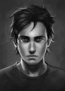 semi realism gray scale by Detkef