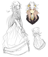 Hana concept art by celiere