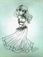 Belly dancer Kagome 1 by Tsuki-Yue