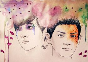 BaekYeol in color by MarinaWoo94