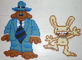 Hama Beads - Sam and Max by acidezabs