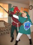 Link and Majora by Aeriith
