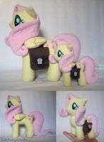 Fluttershy Plushies with Saddle Bags by LadyBelugaCrafts