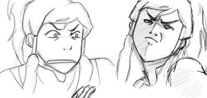 Korra Expressions by BlackBunnyRising