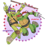 Donnie and Raph by LinART