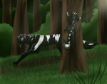 Hunting With Ravensnow by Alyshywolfyarty