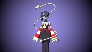 Skullgirls - Squigly WIP 01 by khalibloo